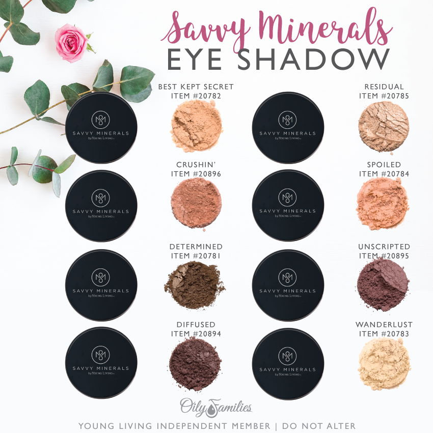 Savvy-Minerals-Eye-Shadow-Colors Savvy Minerals Young Living Make Up Oily Families