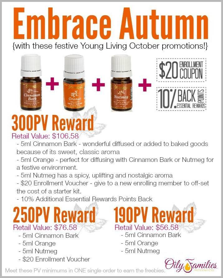 October 2014 Promo Young Living Essential Oils - @YLEOTeam #OilyFamilies