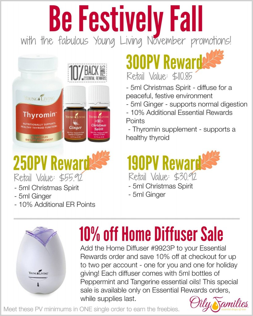 Young Living November 2014 Promo #OilyFamilies @YLEOTeam