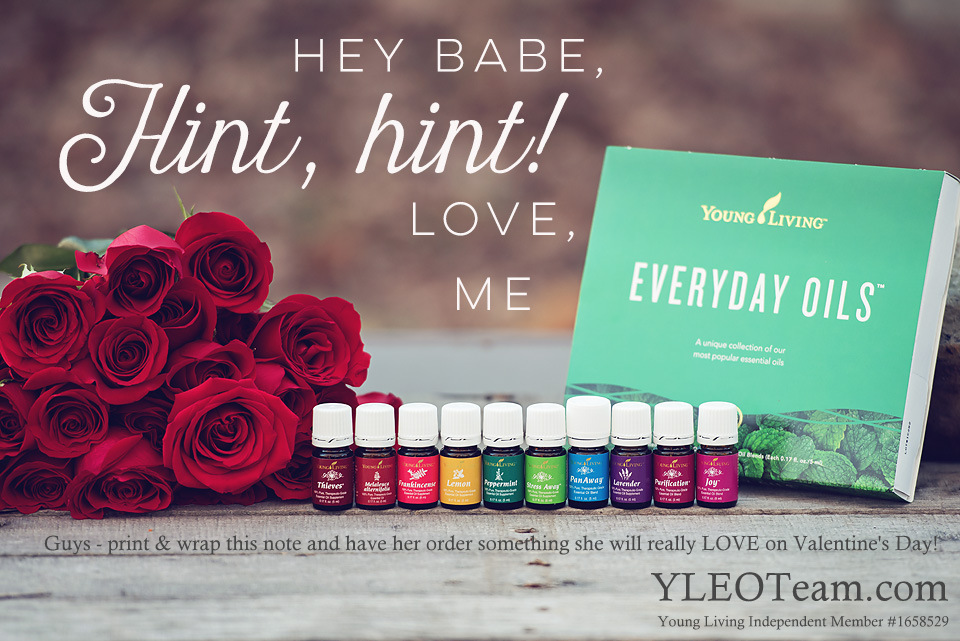 Valentine Gift Hint - Young Living Essential Oils Kit @YLEOTeam
