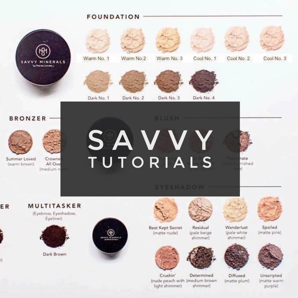Savvy Minerals Make up Tutorials Young Living YLEO